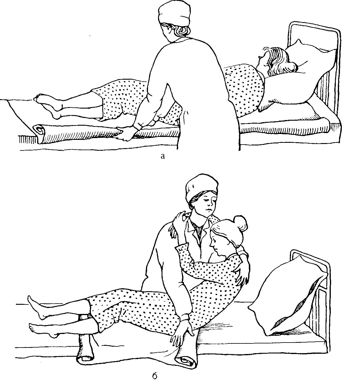 Перестилание больных
